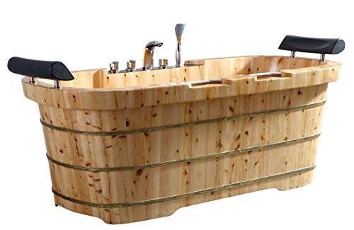 Alfi Two-Person Wooden Bath Tub.
