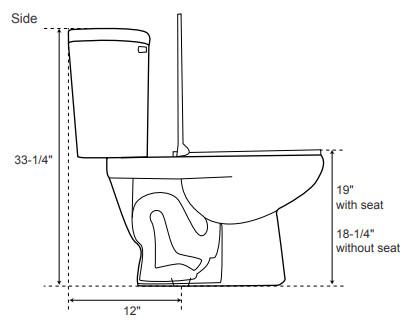 19-inch high toilet