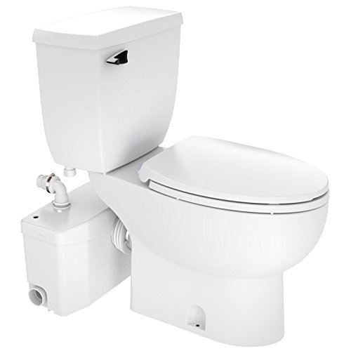 SaniFlo SaniPlus Two-Piece Upflush Commode.