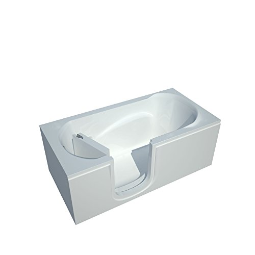 Health Spa World Venzi Rectangular Saturating Walk-In Bath Tub.